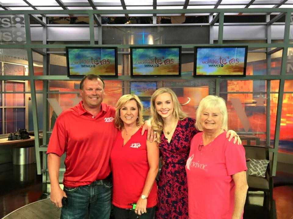 James, Sherry, Sherrill and Danae (NBCF) promoting breast cancer awareness on WFAA's Good Morning Texas