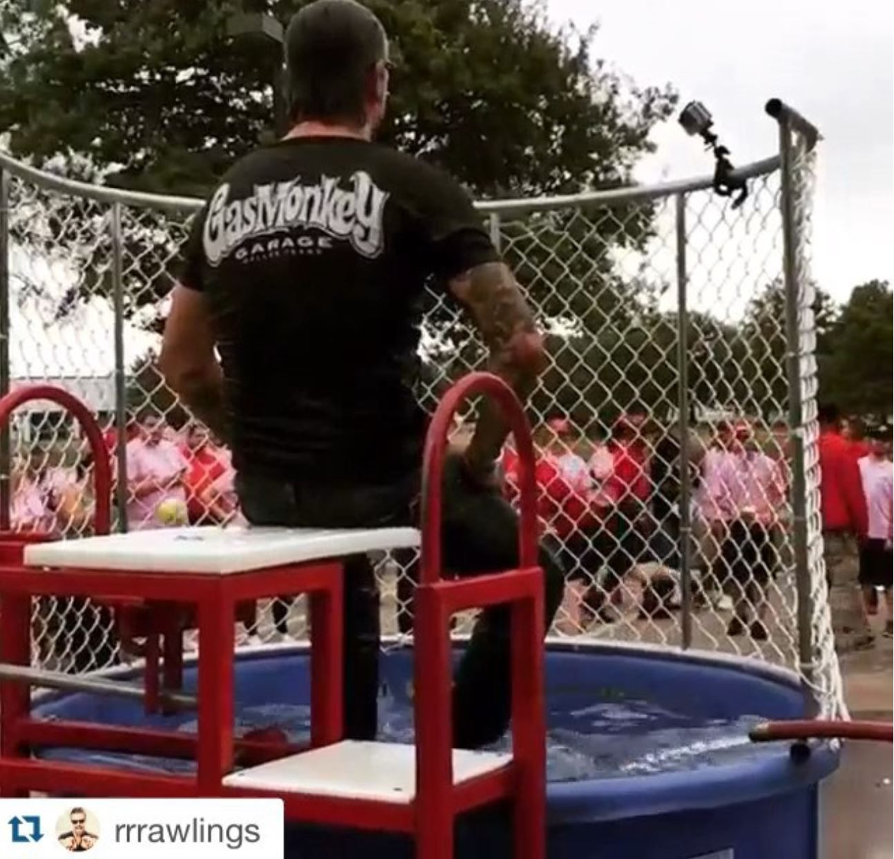 Dunking Booth Fundraiser with Richard Rawlings of Gas Monkey Garage