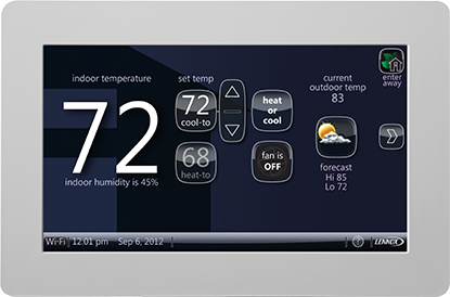 Lennox iComfort Wi-Fi Touchscreen Thermostat, A#1 Air, Inc. Dallas, Fort Worth