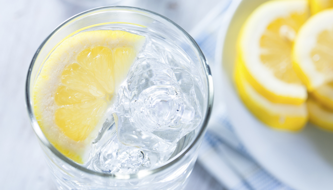 ice lemon water