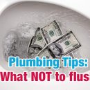 Plumbing Tips: What NOT to flush - A#1 Air, Inc.