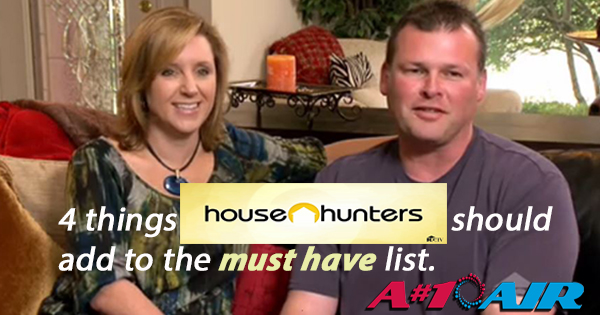 A#1 Air on House Hunters - HGTV